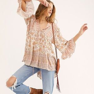 Free People Moonlight Dance Printed Tunic Sm NWT